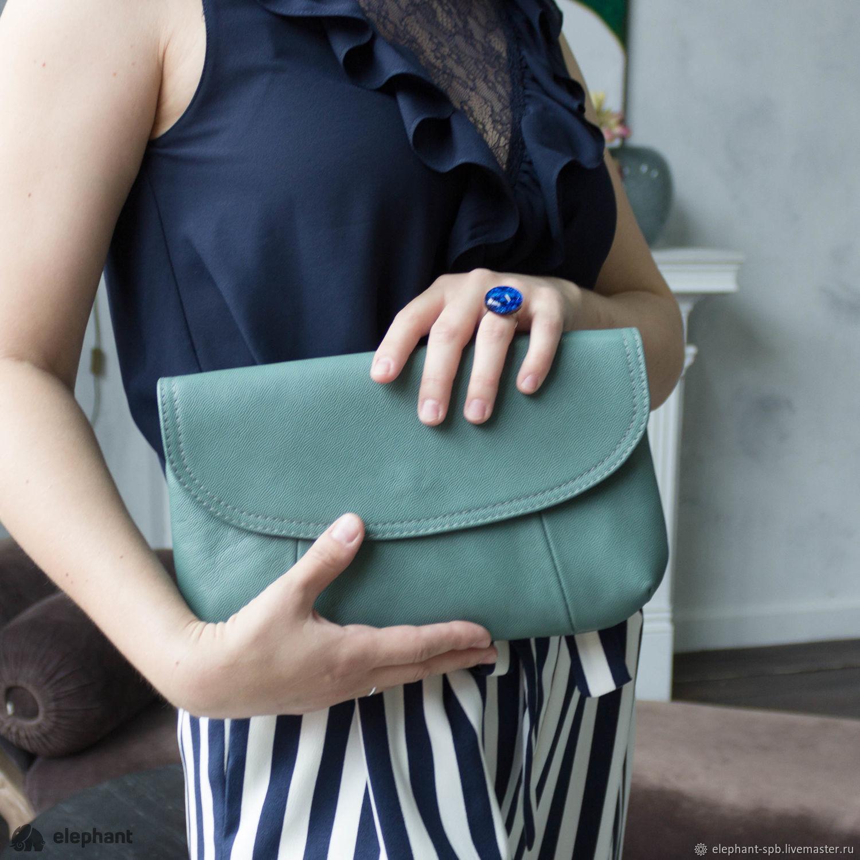 54803a690b5d Женские сумки ручной работы. Ярмарка Мастеров - ручная работа. Купить  Кожаный клатч-сумка ...
