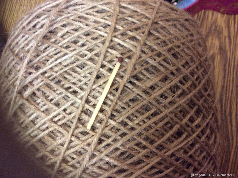Jute yarn for knitting and filigree, Thread, Kaluga,  Фото №1