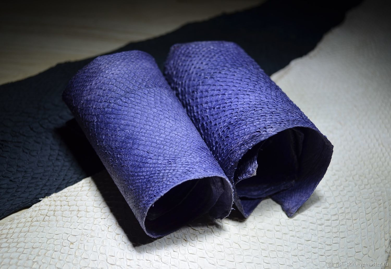 Другие виды рукоделия ручной работы. Ярмарка Мастеров - ручная работа. Купить Рыбья кожа сиреневая (кета). Handmade.
