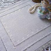 Для дома и интерьера handmade. Livemaster - original item Doily hand embroidery. Unbleached linen.. Handmade.