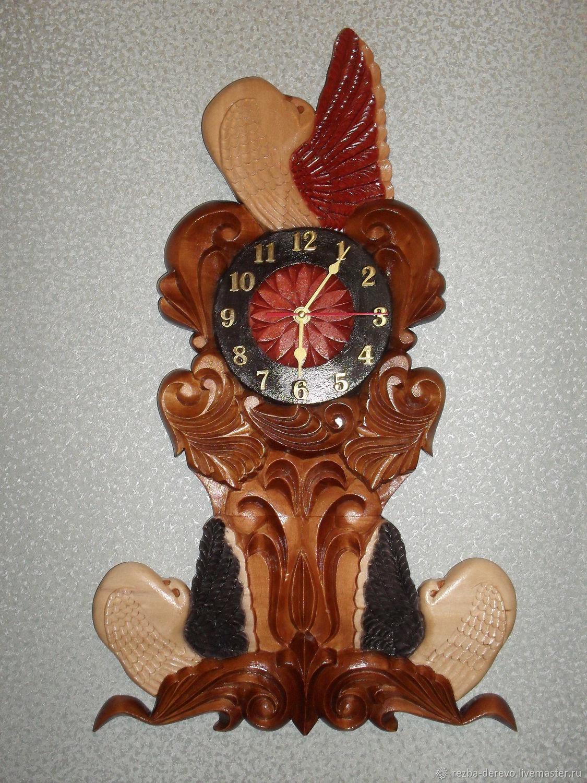 Часы для дома ручной работы. Ярмарка Мастеров - ручная работа. Купить Часы Декоративные голуби. Handmade. Подарок девушке