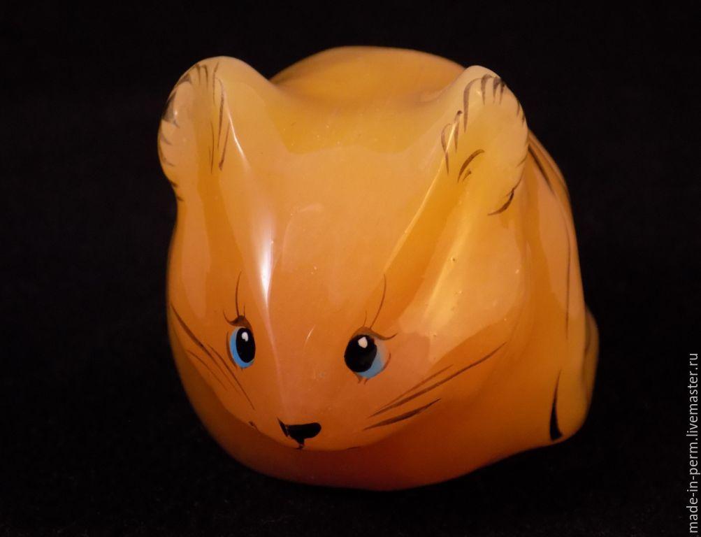 Мышка - фигурка из камня Селенит, Статуэтки, Орда,  Фото №1
