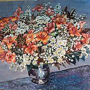 """Картины и панно ручной работы. Ярмарка Мастеров - ручная работа Картина """"Большой букет лилий"""". Handmade."""