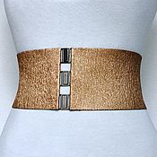 Аксессуары handmade. Livemaster - original item Belt-gum-Copper-Gold height 100mm, different height different price. Handmade.