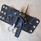 Украшения handmade. Livemaster - original item Leather bracelet for Barber. Handmade.