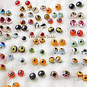 Материалы для творчества ручной работы. Ярмарка Мастеров - ручная работа Глазки стеклянные ручной работы( карамель малые). Handmade.