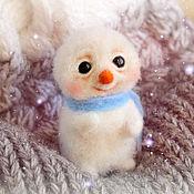 Куклы и игрушки handmade. Livemaster - original item felt toy: Snowman. Handmade.