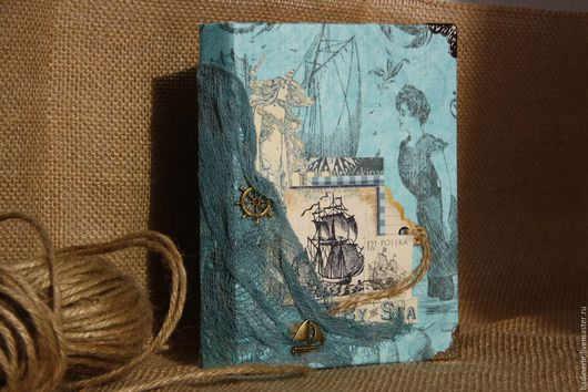 Блокноты ручной работы. Ярмарка Мастеров - ручная работа. Купить Морской блокнот. Handmade. Синий, подарок на любой случай, ракушки