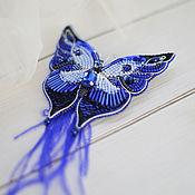 Брошь-булавка ручной работы. Ярмарка Мастеров - ручная работа Броши: Бабочка. Handmade.