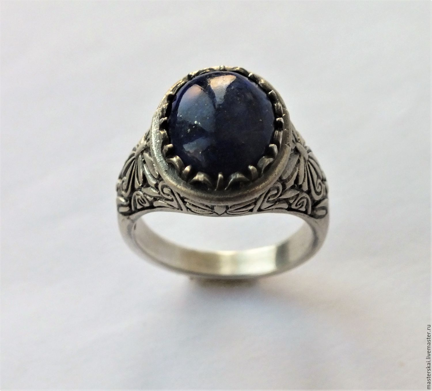 Ring 'Azure' - lapis lazuli, 925 silver, Rings, Moscow,  Фото №1