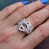 """Украшения ручной работы. Ярмарка Мастеров - ручная работа Кольцо из серебра """"Фриформ"""", необычное кольцо. Handmade."""