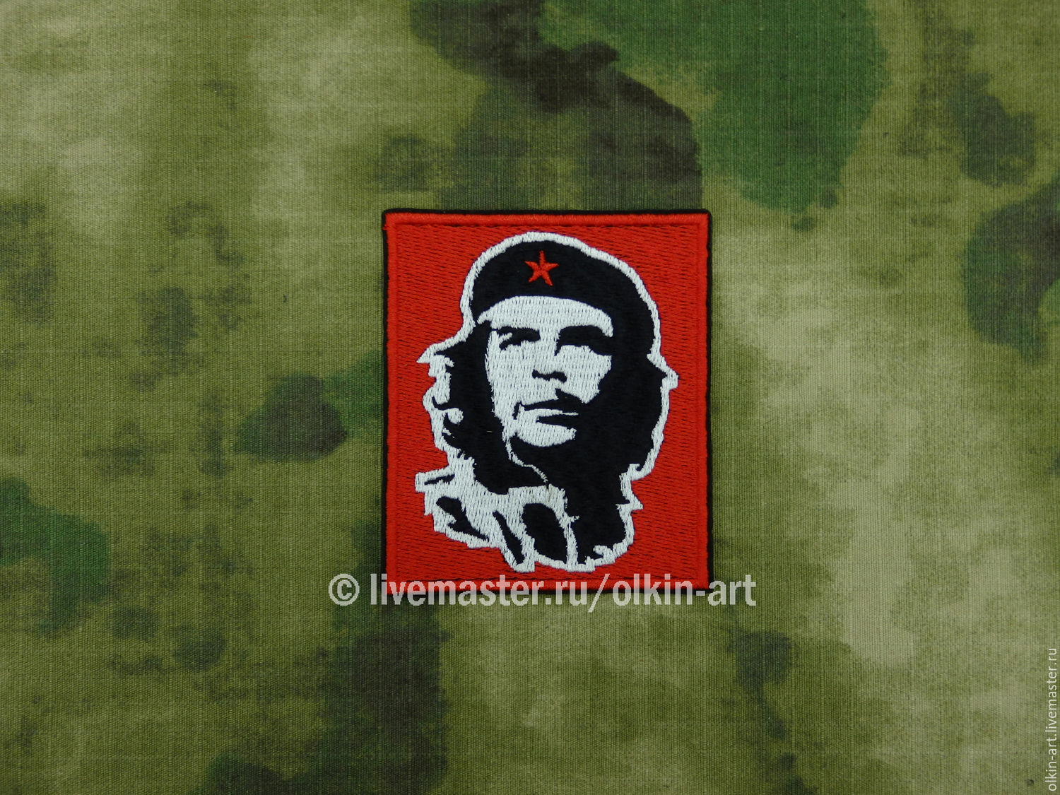 Stripe `CHE GUEVARA`  Machine embroidery. Beloretskiy stripe. Patch. Chevron. Patch. Embroidery. Chevrons. Patches. Stripe. To purchase a patch.