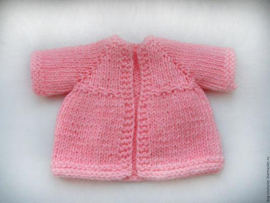 Одежда для кукол ручной работы. Ярмарка Мастеров - ручная работа. Купить Пальто для куклы. Handmade. Розовый, вязаное пальто для куклы