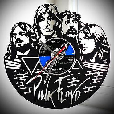 Для дома и интерьера ручной работы. Ярмарка Мастеров - ручная работа Подарок меломану. Часы Pink Floyd. Handmade.