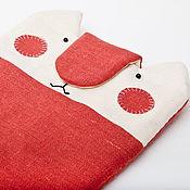 Сумки и аксессуары ручной работы. Ярмарка Мастеров - ручная работа Чехол для iPad mini кот, чехол для планшета мини, красная сумка. Handmade.