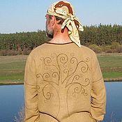 """Одежда ручной работы. Ярмарка Мастеров - ручная работа Рубаха льняная """"Дерево жизни"""". Handmade."""