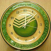 "Для дома и интерьера handmade. Livemaster - original item Часы из кедра серия ""Логотип"". Handmade."
