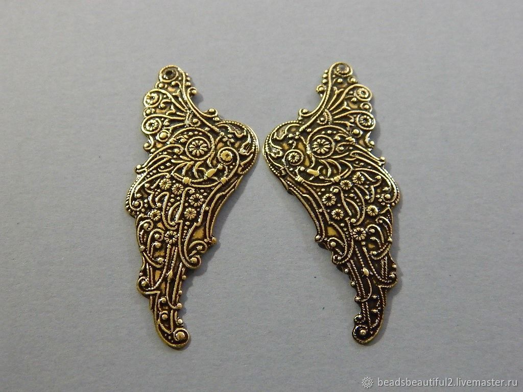 Accessories USA 'angel Wings' vintage brass fittings, Beads1, Saratov,  Фото №1