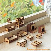 Куклы и игрушки ручной работы. Ярмарка Мастеров - ручная работа Мебель мини диван печка кроватка столик и другое в ассортименте. Handmade.
