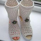 Обувь ручной работы. Ярмарка Мастеров - ручная работа Батильоны...Топлёное Молоко. .... Handmade.