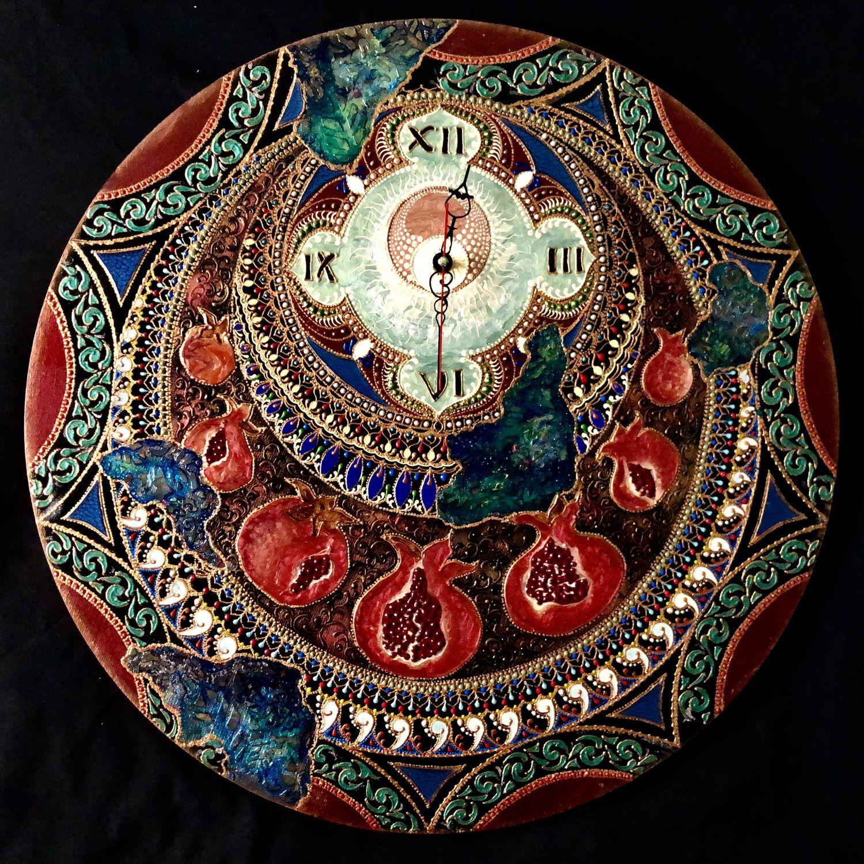 Часы настенные Pomegranate explosion, Часы классические, Москва,  Фото №1