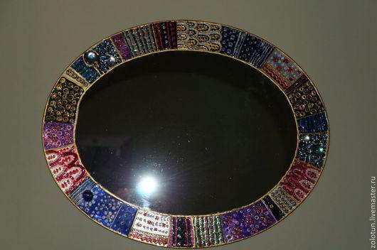 """Зеркала ручной работы. Ярмарка Мастеров - ручная работа. Купить Зеркало большое """"Веселые узоры"""".. Handmade. Зеркало настенное, лак"""