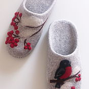 Обувь ручной работы handmade. Livemaster - original item Felted Slippers womens grey. Handmade.