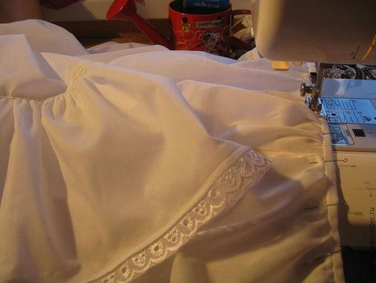 Юбки ручной работы. Ярмарка Мастеров - ручная работа. Купить Нижняя юбочка из батиста. Handmade. Белый, юбка из батиста
