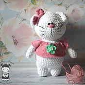 Материалы для творчества handmade. Livemaster - original item Master class on knitting plush kitties. Handmade.