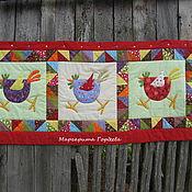 """Картины и панно ручной работы. Ярмарка Мастеров - ручная работа Текстильное панно  """"Переполох"""". Handmade."""