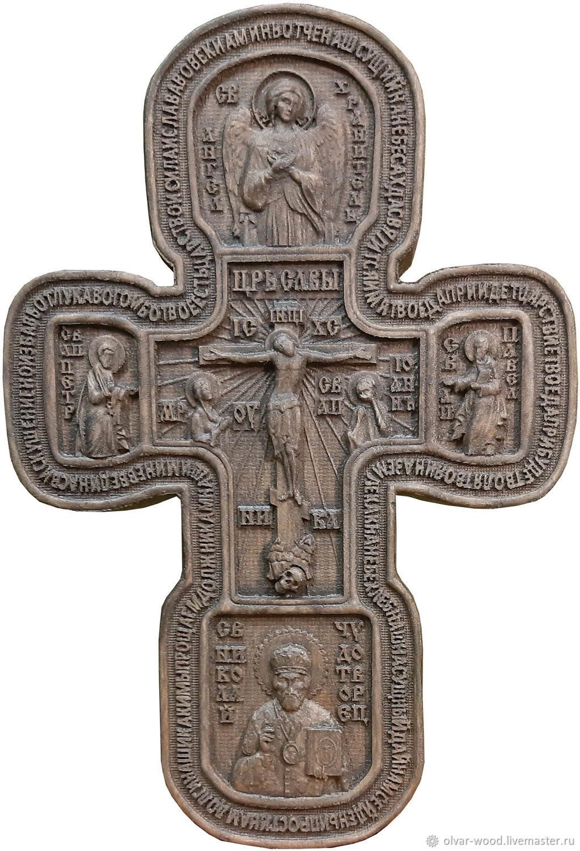 Резной крест распятие Отче Наш, Иконы, Москва,  Фото №1