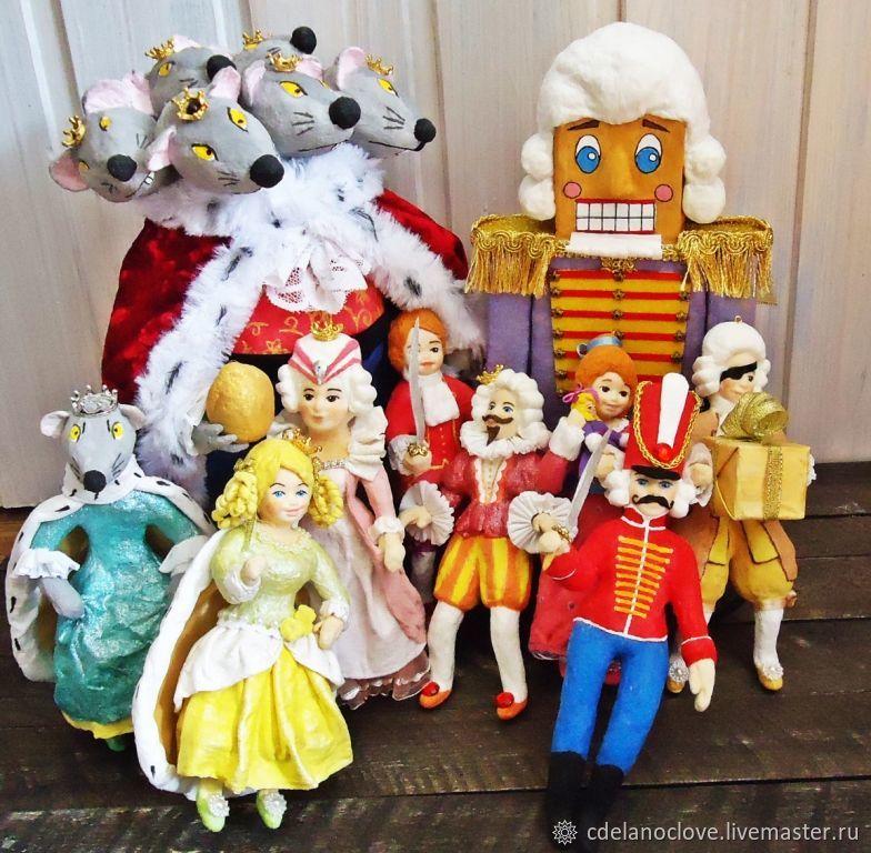 """Сказка """"Щелкунчик и Мышиный король"""" - ватная игрушка, Украшения, Курск, Фото №1"""
