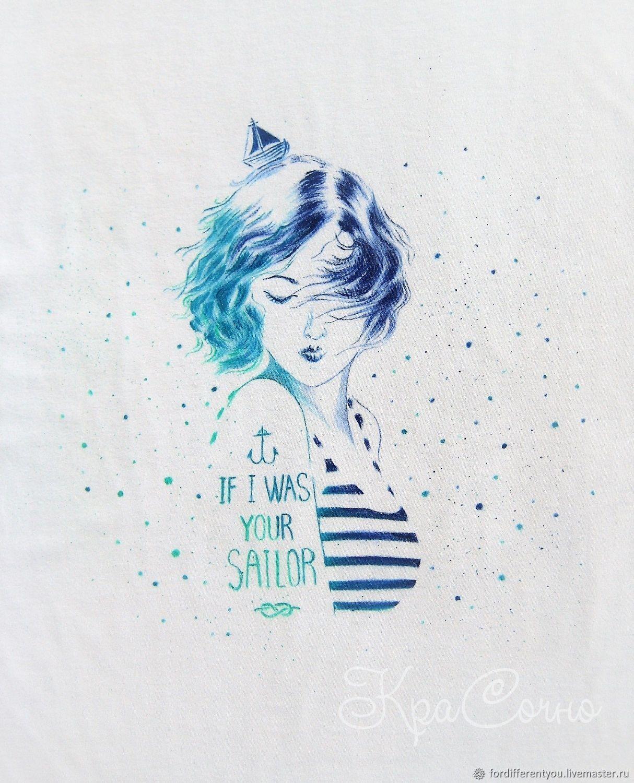 T-shirt painting,t-shirt,art,illustration on a t-shirt, T-shirts, Krasnodar,  Фото №1