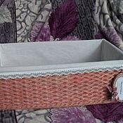 Для дома и интерьера ручной работы. Ярмарка Мастеров - ручная работа Плетеный короб Пыльная роза. Handmade.