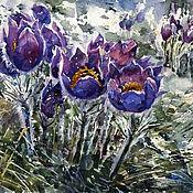 Картины и панно handmade. Livemaster - original item Watercolor painting Spring flowers. Handmade.