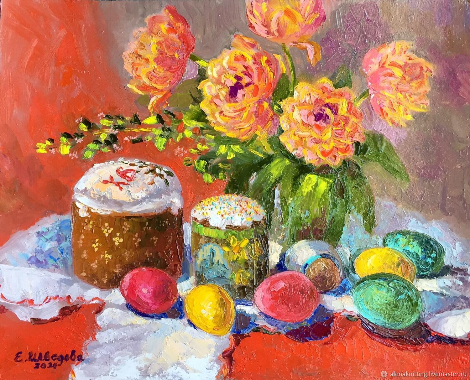 Oil painting still Life ' at Easter», Pictures, Moscow,  Фото №1