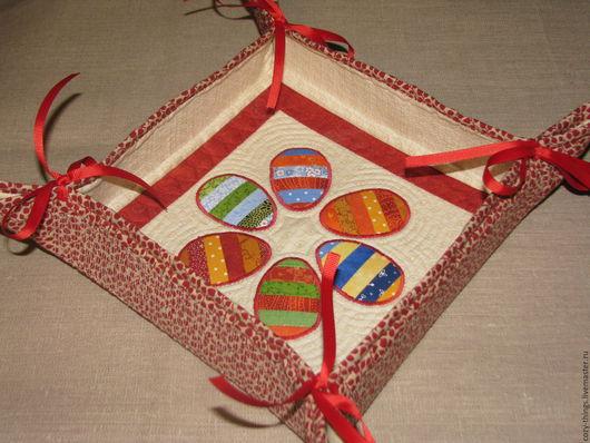"""Кухня ручной работы. Ярмарка Мастеров - ручная работа. Купить Хлебница-конфетница """"Пасхальная"""". Handmade. Комбинированный, хлебница, текстиль для дома"""