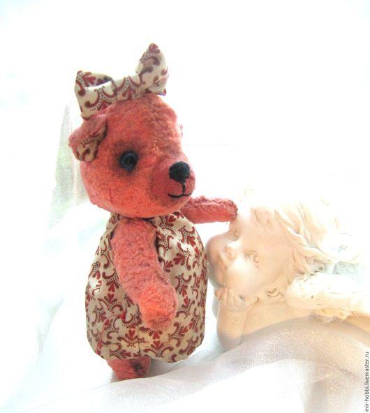 """Мишки Тедди ручной работы. Ярмарка Мастеров - ручная работа. Купить Мишка """"Малышка"""". Handmade. Коралловый, мишка в подарок"""
