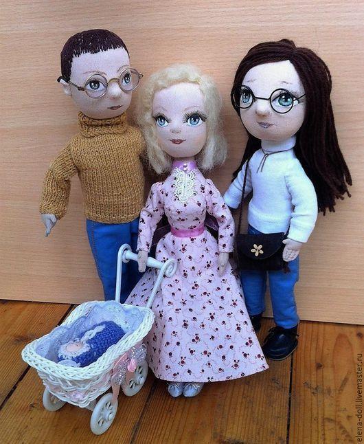 Коллекционные куклы ручной работы. Ярмарка Мастеров - ручная работа. Купить Семья. Текстильные куклы.. Handmade. Комбинированный, подарок на новый год
