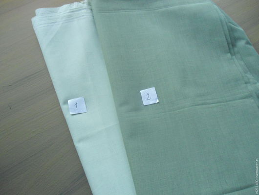 Шитье ручной работы. Ярмарка Мастеров - ручная работа. Купить Ткань сорочечная. Handmade. Салатовый, ткань винтажная, ткань для кукол