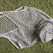 Одежда ручной работы. Ярмарка Мастеров - ручная работа Пляжное платье-майка-сетка вязаное крючком из хлопка. Handmade.