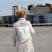 Сумки и аксессуары handmade. Livemaster - original item Backpack women`s leather white Silvia Mod P31-141. Handmade.