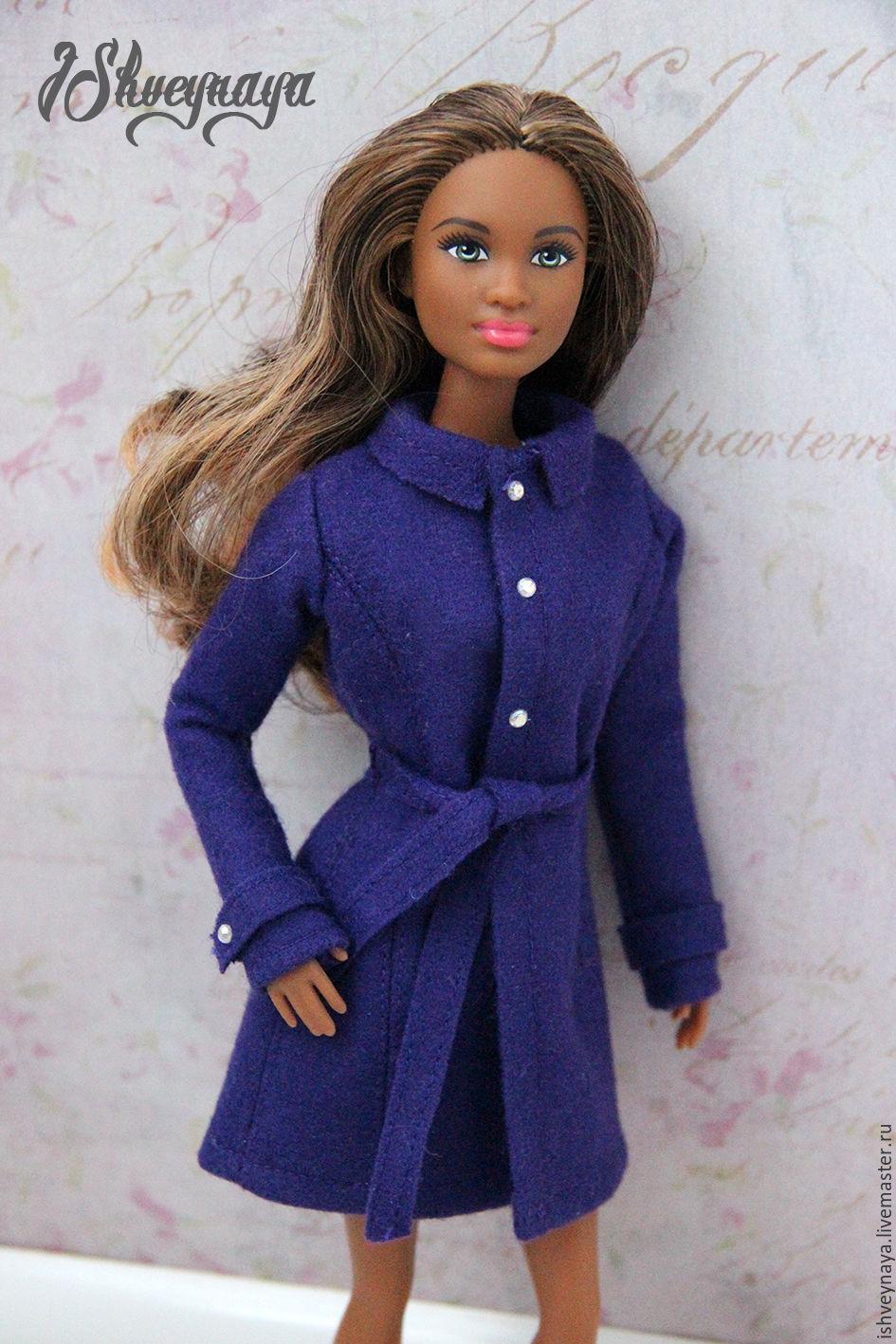 Как сшить пальто для куклы. Выкройка пальто для куклы / Мастер-класс 555