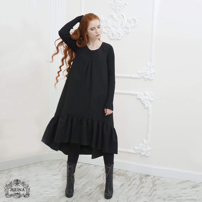 991c97219ae Платья ручной работы. Ярмарка Мастеров - ручная работа. Купить Платье  двухслойное черное