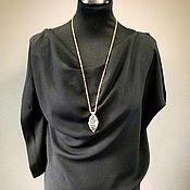 Одежда ручной работы. Ярмарка Мастеров - ручная работа Асимметричная шелковая блузка. Handmade.
