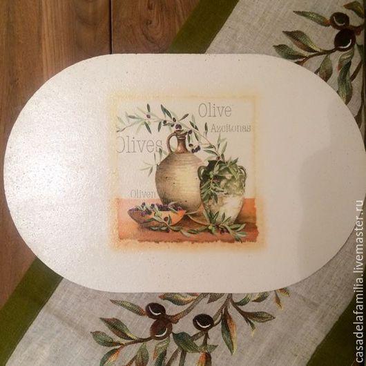 """Кухня ручной работы. Ярмарка Мастеров - ручная работа. Купить Подставки под тарелки """"Оливы"""". Handmade. Подставка под горячее"""