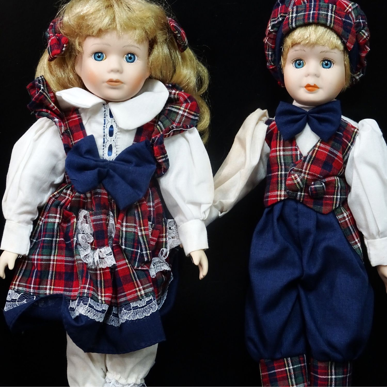Porcelain doll couple in a box, Vintage doll, Kaliningrad,  Фото №1