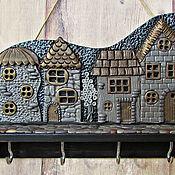 Для дома и интерьера handmade. Livemaster - original item Housekeeper Night City 3.The housekeeper wall. decor polymer clay.. Handmade.