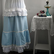"""Одежда ручной работы. Ярмарка Мастеров - ручная работа Юбка """"Небесного цвета"""". Handmade."""