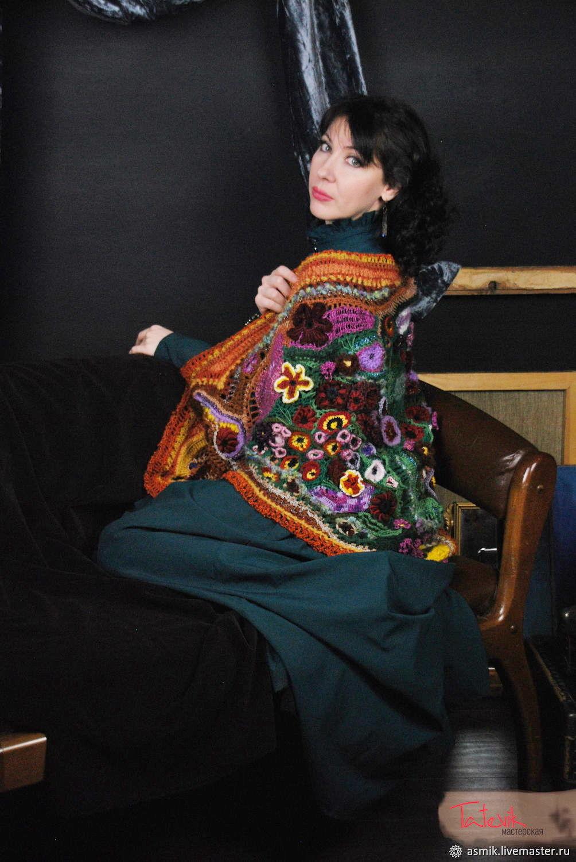 Crochet shawl 'Spring bouquet' based on Martiros Saryan, Shawls, Moscow,  Фото №1